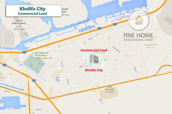 Commercial Land In Khalifa City (L_1205)